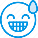 emoticon, relieved, emoji, face