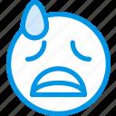 emoticon, emoji, desperate, face