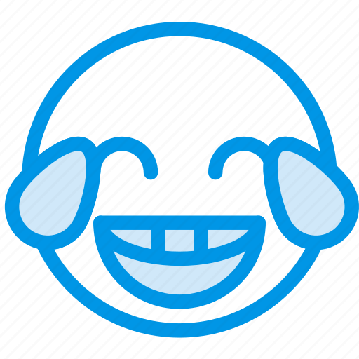 emoji, emoticon, face, rofl icon