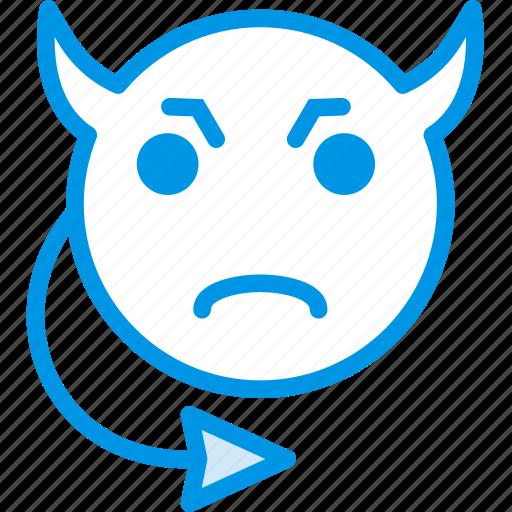 emoji, emoticon, evil, face icon