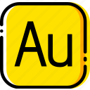 adobe, audition, file, type, yellow icon