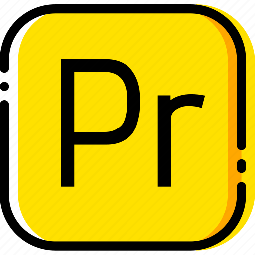 adobe, file, premiere, pro, type, yellow icon