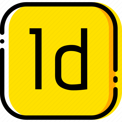 adobe, file, indesign, type, yellow icon