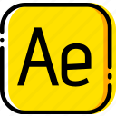 adobe, after, effects, file, type, yellow icon