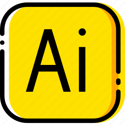 adobe, file, illustrator, type, yellow icon