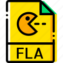 file, fla, type, yellow icon