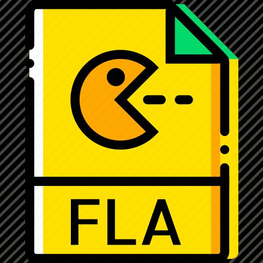 file, fla, type, yellow icon