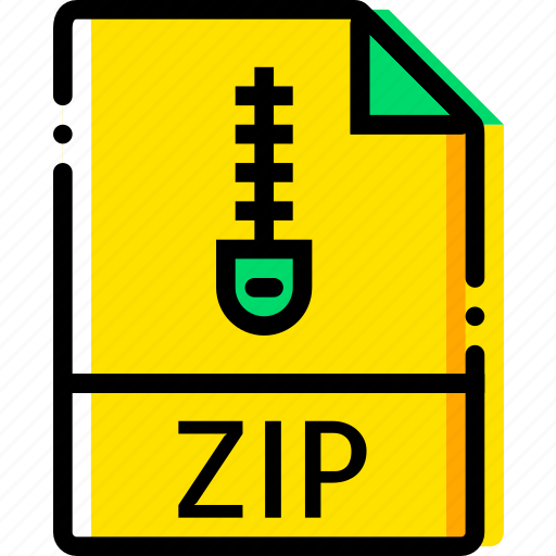 archive, file, type, xip, yellow icon