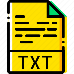 file, txt, type, yellow icon