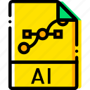 file, type, yellow icon