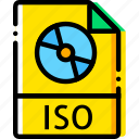 file, image, iso, type, virtual, yellow icon