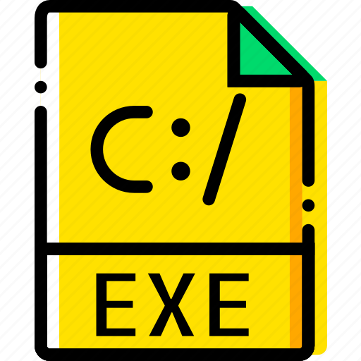 exe, file, type, yellow icon