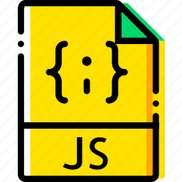 file, js, type, yellow icon