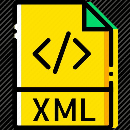 file, type, xml, yellow icon