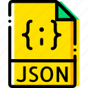 file, json, type, yellow icon