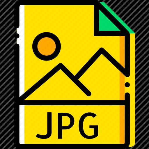 file, image, jpg, type, yellow icon