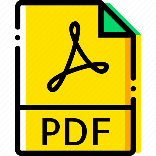 file, pdf, type, yellow icon