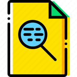 file, search, type, yellow icon