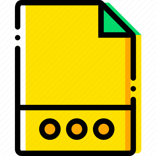 file, files, more, type, yellow icon