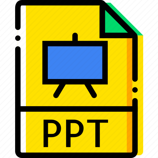 file, ppt, type, yellow icon