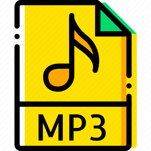 file, mp3, music, type, yellow icon