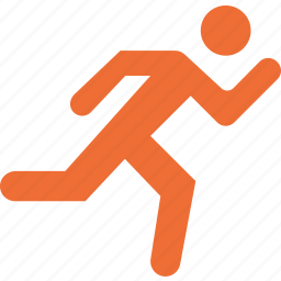 fitness, gym, health, man, running icon