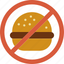 eat, fast, food, forbidden, hamburger icon