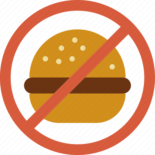 eat, fast, food, forbidden, hamburger icon