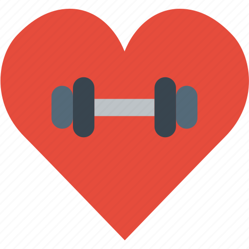 fitness, gym, health, heart, love icon