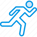 fitness, gym, health, man, running icon