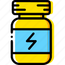 bottle, eat, fitness, health, proteins icon