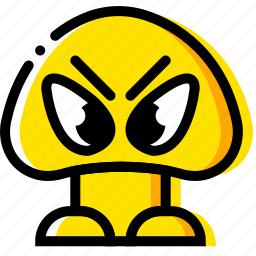 arcade, game, goomba, mario, yellow icon