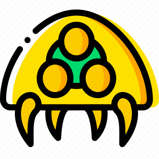 alien, game, metroid, symbiote, yellow icon