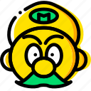 aarcade, game, head, mario, yellow icon