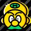 aarcade, game, head, mario, yellow icon