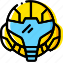 alien, game, head, metroid, yellow icon