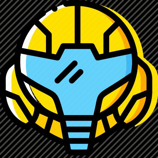alien, game, head, metroid, yellow icon