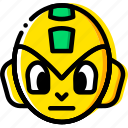 arcade, game, head, megaman, yellow icon