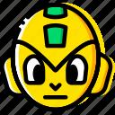 megaman, game, arcade, head, yellow