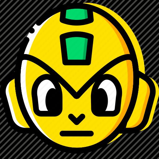 arcade, game, head, megaman, yellow icon