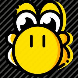 console, game, mario, yellow, yoshi icon