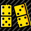 dominoes, gambling, game, play, yellow