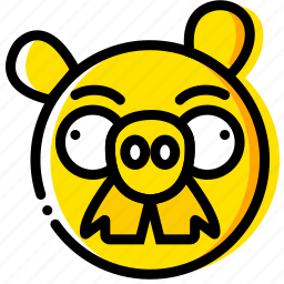 angry, birds, game, pigstache, yellow icon