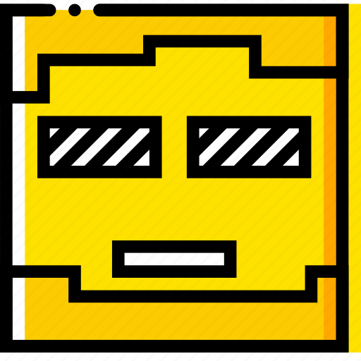 game, minecraft, scary, yellow, zombie icon