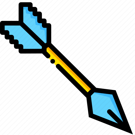 arrow, diamond, game, minecraft, yellow icon