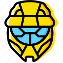 game, halo, head, odst, yellow icon