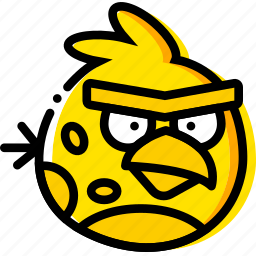 angry, birds, game, terence, yellow icon