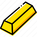 game, gold, ingot, minecraft, yellow icon