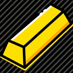 game, gold, ingot, minecraft, yellow icon