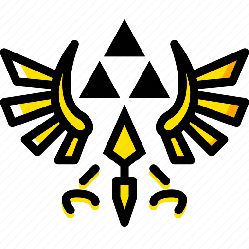 game, the, triforce, yellow, zelda icon